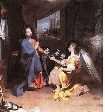 Fredrico Barocci_Annunciation [Public Domain] via WikiCommons