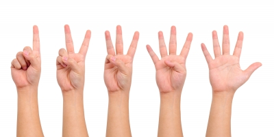 """Counting Hand Sign"" by Teerapun courtesy of FreeDigitalPhotos.net"