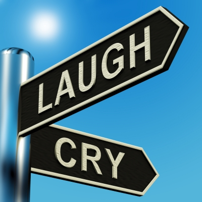 Laugh or Cry Signpost by Stuart Miles